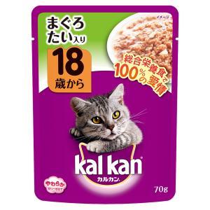 カルカン パウチ ゼリー仕立て 18歳から まぐろとたい 70g キャットフード 超高齢猫用 関東当日便|chanet
