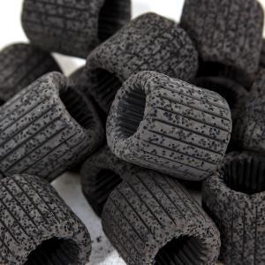 吸着系多機能リングろ材 MULTI RING(マルチリング)ブラック 約500mL(16個入) 関東当日便|chanet