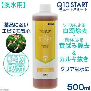Q10スタート 淡水用 500mL 植物由来 白濁除去(魚・エビに優しいカルキ抜き) 関東当日便|chanet