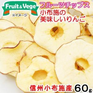 信州産 小布施の美味しいりんご 60g 国産 PackunxCOCOA フルーツ&ベジ 犬用おやつフルーツチップス 関東当日便|chanet