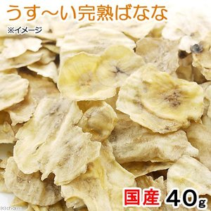 うす〜い完熟バナナ 40g 小動物のおやつ ドライフルーツ うさぎ ハムスター 無添加 無着色