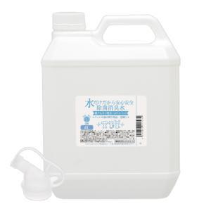 水だけだから安心安全 除菌消臭水 強アルカリ水 ペットの身の周り用品・空間用 4L おもちゃ 食器 関東当日便|chanet