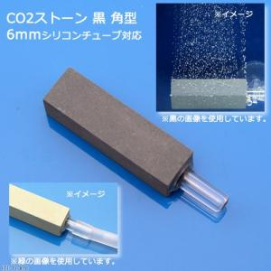 CO2拡散器 コケが目立ちにくいCO2ストーン 黒 角型 6mmシリコンチューブ対応