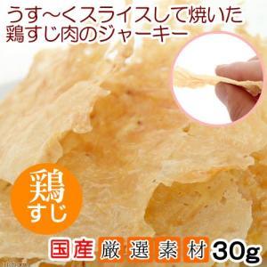 国産 うす〜くスライスして焼いた 鶏すじ肉のジャーキー 30g アルミパック 犬猫用 PackunxCOCOA 関東当日便|chanet
