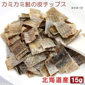 北海道産 カミカミ鮭の皮チップス 15g 無添加 無着色 犬猫用おやつ PackunxCOCOA|chanet