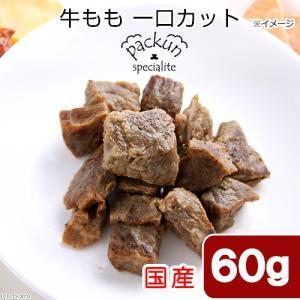 国産 牛もも ひとくちカット 60g 無添加無着色レトルト 犬猫用 Packun Specialite 関東当日便|chanet
