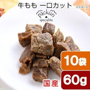 10袋セット 国産 牛もも ひとくちカット 60g 無添加無着色レトルト 犬猫用 Packun Specialite 関東当日便|chanet