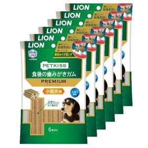 ライオン PETKISS 食後の歯みがきガム プレミアム 小型犬用 6本入り 6袋入り chanet