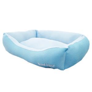 アスク 超冷感メッシュクール スクエアベッド ライトブルー 洗えるベッド 接触冷感生地 関東当日便|chanet