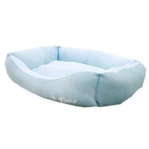 アスク 超冷感メッシュクール スクエアベッド アクアブルー 洗えるベッド 接触冷感生地 関東当日便|chanet