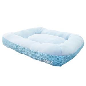 アスク 超冷感メッシュクール クッションベッド ライトブルー 洗えるベッド 接触冷感生地 関東当日便|chanet