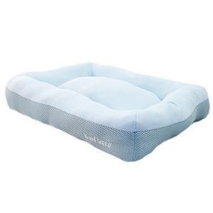 アスク 超冷感メッシュクール クッションベッド アクアブルー 洗えるベッド 接触冷感生地 関東当日便|chanet