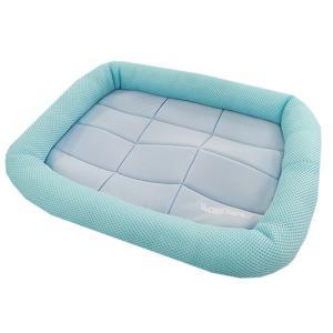 アスク 超冷感メッシュクール マットベッド S ライトブルー 洗えるベッド 接触冷感生地 chanet