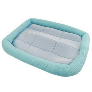 アスク 超冷感メッシュクール マットベッド M ライトブルー 洗えるベッド 接触冷感生地 関東当日便|chanet
