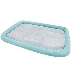 アスク 超冷感メッシュクール マットベッド L ライトブルー 洗えるベッド 接触冷感生地 関東当日便|chanet