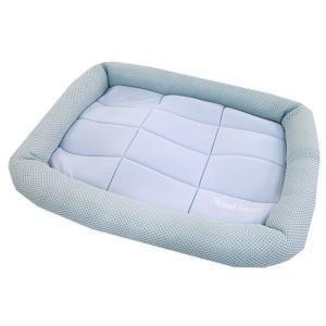 アスク 超冷感メッシュクール マットベッド S アクアグレー 洗えるベッド 接触冷感生地 chanet