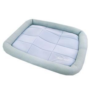 アスク 超冷感メッシュクール マットベッド M アクアグレー 洗えるベッド 接触冷感生地 関東当日便|chanet