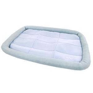 アスク 超冷感メッシュクール マットベッド L アクアグレー 洗えるベッド 接触冷感生地 関東当日便|chanet
