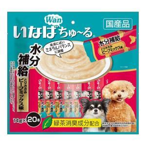 いなば 犬用 ちゅ〜る 水分補給 とりささみ ビーフミックス 14g×20本|chanet