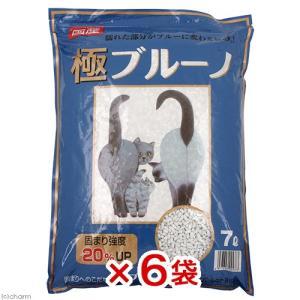 猫砂 ネコの紙砂 極ブルーノ 7L 6袋入り 猫砂 紙 固まる 燃やせる お一人様1点限り
