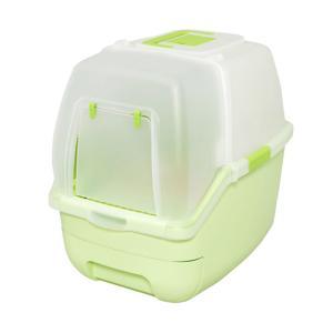 アイリスオーヤマ 楽ちん猫トイレ フード付きセット グリーン RCT−530F
