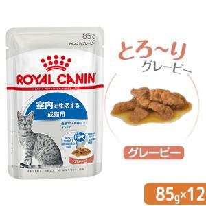 ロイヤルカナン FHN−WET 室内で生活する成猫用 インドア グレービー 85g 1ボール 12袋...