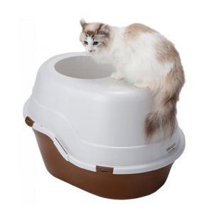 メーカー:ヤマヒサ ペティオ 品番:W25099 猫砂が飛び散りにくい カバー付きトイレ! ペティオ...
