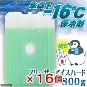 保冷剤 フリーザーアイスハード 氷点下16℃タイプ 800g 1箱16個入り    ひんやり 沖縄別途送料 関東当日便|chanet