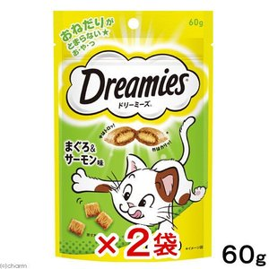 ドリーミーズ まぐろ&サーモン味 60g 2袋入り 関東当日便|chanet