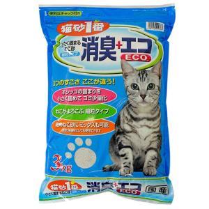 猫砂1番 消臭+エコ 3kg