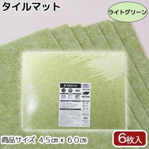 サンコー タイルマット 45×60cm ライトグリーン 6枚入 関東当日便 chanet