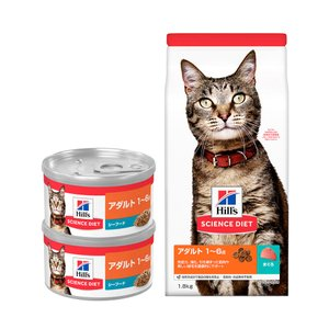 サイエンスダイエット アダルト まぐろ 成猫用 1.8kg(600g×3袋) お試し2缶(シーフード)おまけ付き 関東当日便 chanet