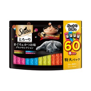 シーバ とろ〜り メルティ まぐろ&かつお味グルメセレクション 12g×60P キャットフード