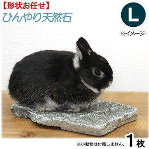 ひんやり天然石 L 形状おまかせ うさぎ モルモット 保冷用...