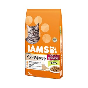 アイムス 成猫用 インドアキャット チキン 5kg キャットフード 正規品 IAMS|chanet