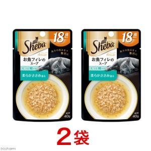 お買得セット シーバ アミューズ 18歳以上 お魚フィレのスープ もっと細かめ柔らかささみ添え 40g 2袋 関東当日便