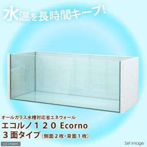 同梱不可・中型便手数料 オールガラス水槽対応省エネウォール エコルノ120 Ecorno 3面タイプ 120cm水槽用 才数180|chanet
