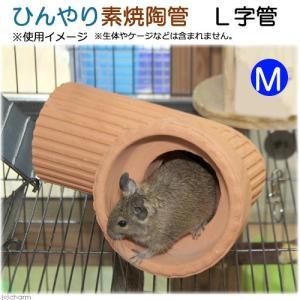 ひんやり素焼陶管 L字管 M 小動物用 ハウス トンネル 関東当日便|chanet