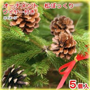 オーナメント 松ぼっくり ワイヤー付き 5個 クリスマス 関東当日便|chanet