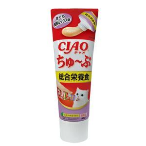 いなば CIAO(チャオ) ちゅ〜ぶ 総合栄養食 まぐろ 海鮮ミックス味 80g 関東当日便 chanet
