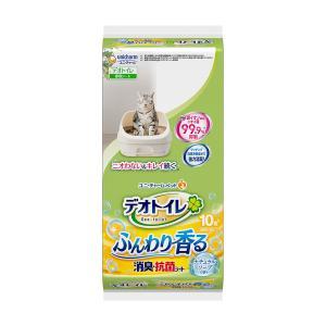 デオトイレ ふんわり香る消臭・抗菌シート ナチュラルソープの香り 10枚 関東当日便|chanet