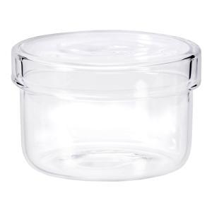 モダンなフォルム!ガラス製のシンプルな容器です。かわいい円柱型の形で何個か並べて飾っても素敵です。密...