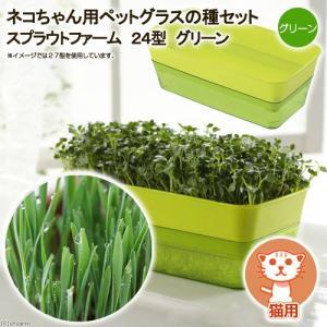 スプラウトファーム 24型 グリーン ネコちゃん用ペットグラスの種セット 水耕栽培 家庭菜園 関東当日便|chanet