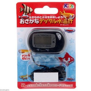 メーカー:日本動物薬品 品番:032783 お手軽なデジタル水温計!金魚やメダカの飼育には水温の管理...