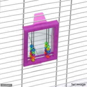 スドー ビーズ付ミラー 鳥 おもちゃ ミラー