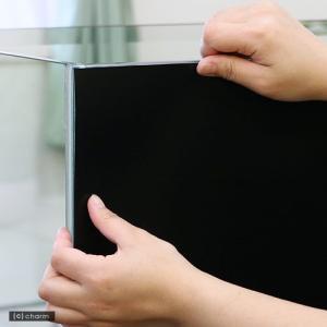 バックスクリーン ARTI(アルティ)90 ジェットブラック(95×50cm)