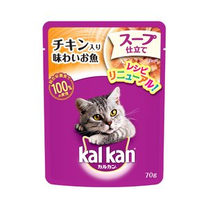 カルカン パウチ スープ仕立て チキン入り味わいお魚 1歳から 70g キャットフード カルカン 成...