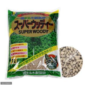 お一人様6点限り 固まる木製猫砂 スーパーウッディー 7L 猫砂 おがくず 固まる 燃やせる 関東当日便