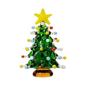 グラスコレクション ドットツリー グリーン 1個 クリスマス