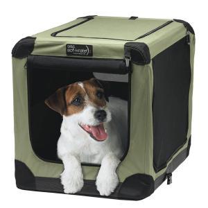 ソフクレート n2 M 小型犬 中型犬用 犬 キャリーバッグ クレート(13.6kgまで) ゲージ サークル 折りたたみ 関東当日便|chanet